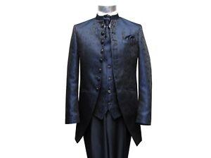 Cutaway-Anzug-Herren-Hochzeit-5-teilig-Muga-Gr-60-Navy-Blau