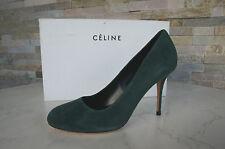 CELINE CÉLINE Paris Gr 36,5 Pumps Heels grün Leder Schuhe Shoes  NEU UVP 495 €