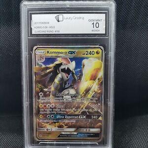 Kommo-o-GX-100-145-Graded-Pokemon-Card-Luxury-Grading-10-PSA-10