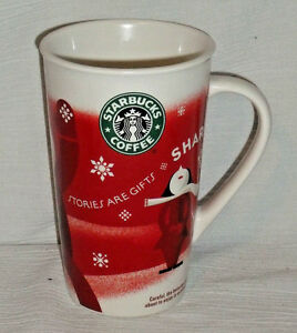 Starbucks-Taza-2010-Alto-5-5-034-Stories-Son-Regalos-Cafe-Latte-Rojo