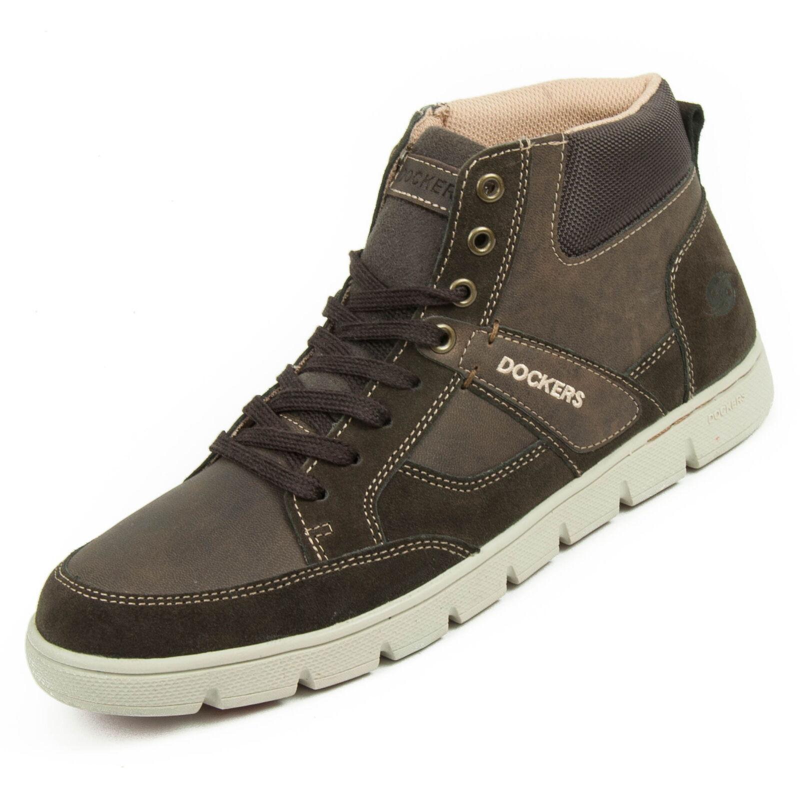 DOCKERS Zapatos Hombre Altura 43 deportiva de piel talla 43 Altura Café 35bj008-204320 4cbbc8