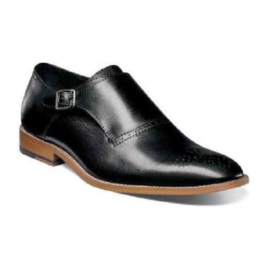 di moda Mens scarpe Stacy Adams Dinsmore Plain Plain Plain Toe Monk Strap nero Leather 25065-001  senza esitazione! acquista ora!