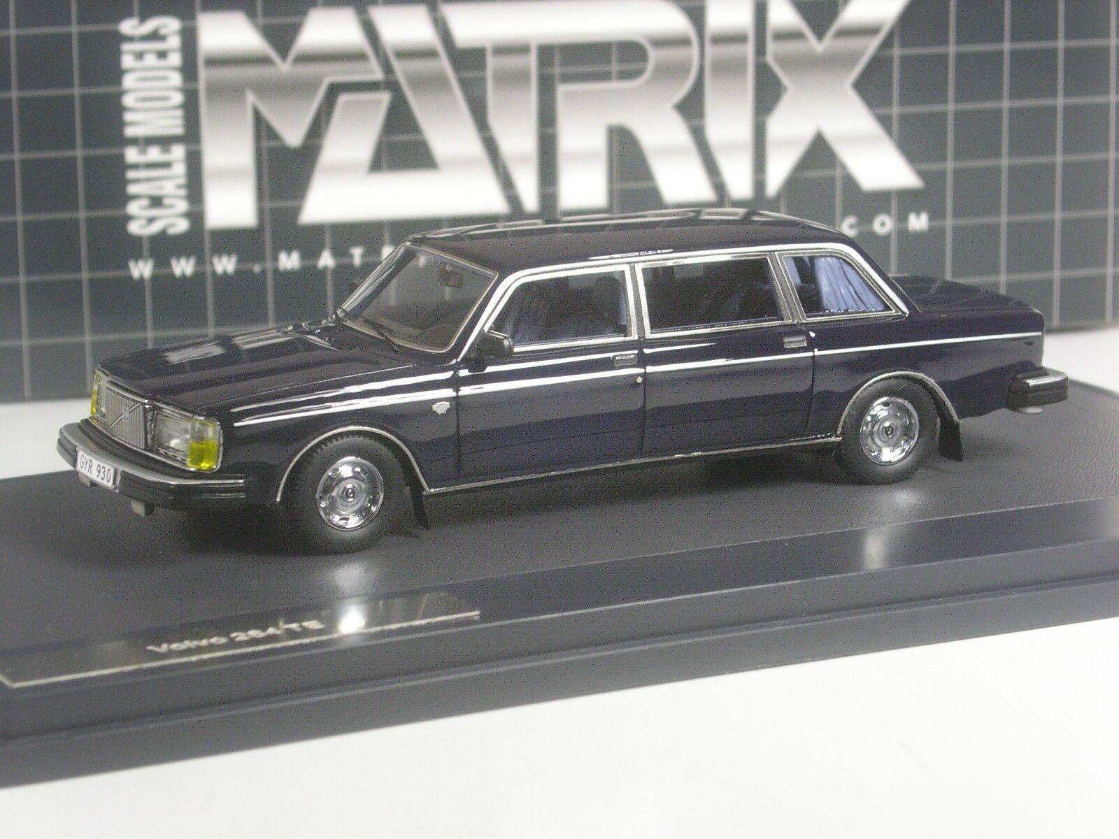 (KI-07-19) Matrix Volvo 264 TE 1978 dunkelblau in 1 43 in OVP