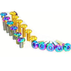 4x M8 x15-60mm Standard Titanium Flange bolts screws for motorcycle
