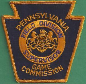 Details about Pa Pennsylvania Game Commission NEW Field Division Supervisor  Uniform Patch