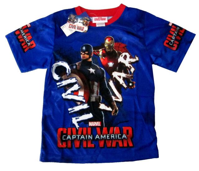 Captain America Civil War Boys Pajamas