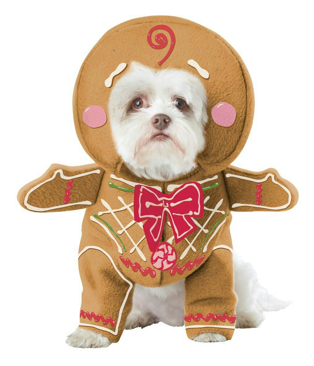Gingerbread Pup Dog Pet Christmas Costume Dimensione X-Small