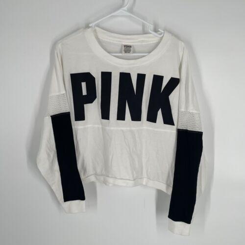 Victoria's Secret PINK Long Mesh Sleeve Mesh Over… - image 1