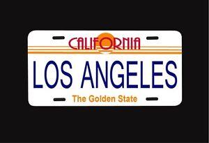 Long Beach California City//College Vanity License Plate Black