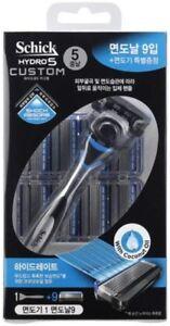 Schick-Hydro-5-Custom-Hydrate-Razor-Sense-Blue-1-Razor-9-Refill-Cartridge