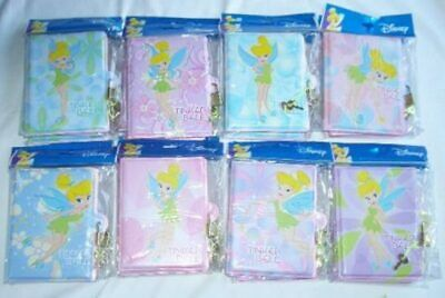 8 pcs Tinkerbell Diary Notebook Disney Licensed Diaries with Lock /& Key Set