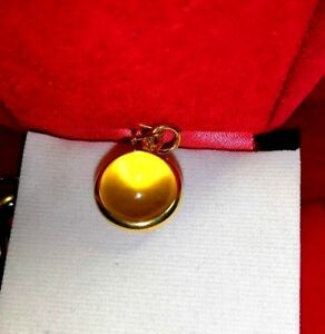 Naga Eye Purple Gem Pendant Talisman Thai Amulet Luck Love Charm Power Wealth