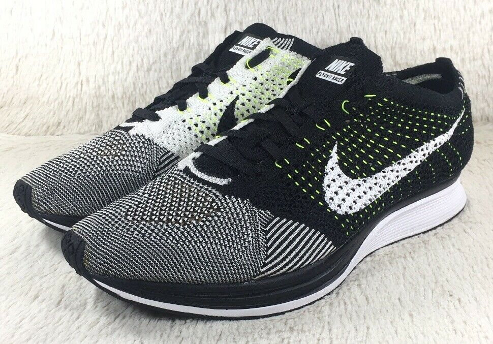 86d9c348f5 NEW Nike Flyknit Racer shoes Mens Oreo Athletic Running Trainers 526628011  Sz 13
