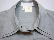 ESCADA GERMANY Gray Silk Long Sleeve Shirt Eu 40 = US 10