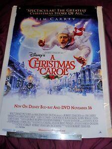 "DC: Disney's A Christmas Carol, Animated, Jim Carrey, Movie Poster 26"" x 40"" | eBay"