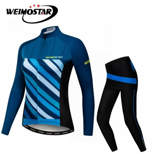 2020 Women Cycling Jersey Suit Bike Clothing Bicycle Long Sleeve Pants Sets Tops