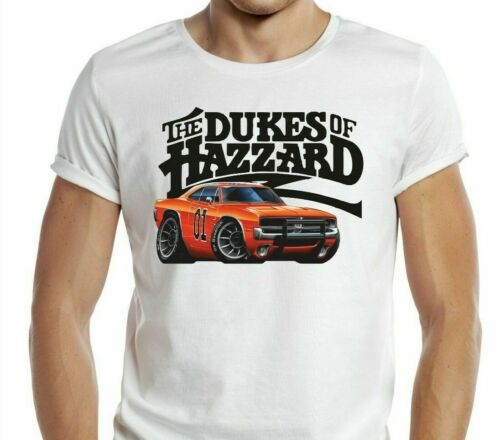 Dukes of Hazard T-Shirt General Lee Voiture Rétro TV Show 01 Daisy Duke Classic Cool