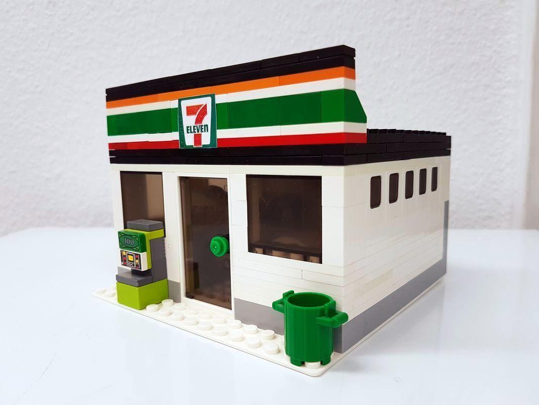 7 eleven Shop supermarket Store casa modular MOC sofisticación sin sin sin figuras  venta al por mayor barato