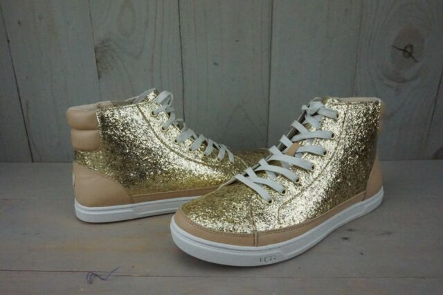 df7851a14af UGG Gradie Glitter Gold Fashion High Top SNEAKERS Size US 9.5 1090042  Authentic