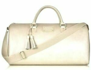Details About Michael Kors Sparkle Gold Overnight Gwp Bag Metallic Travel New Free Shipping