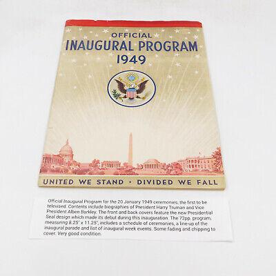 Official 1949 President Harry Truman Inaugural Program