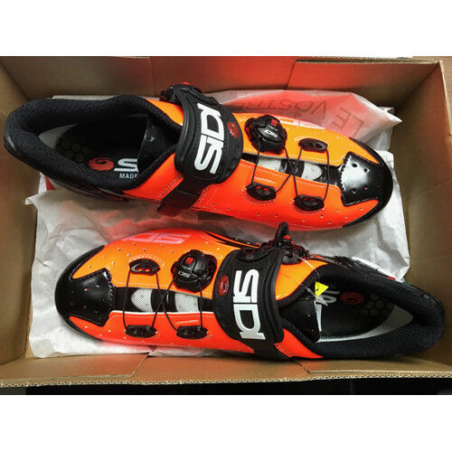 New SIDI WIRE Carbon Road Bike Cycling Shoes Orange Black EU38.5-44.5