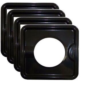 Heavy Duty Black Steel Square Reusable Drip Pan Gas Burner