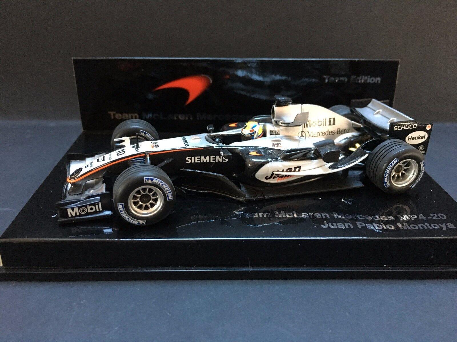 Minichamps - Juan Pablo MonJuguetea - McLaren - Mp4 20 20 20 - 2005 -1 43 -  Team edition  El nuevo outlet de marcas online.
