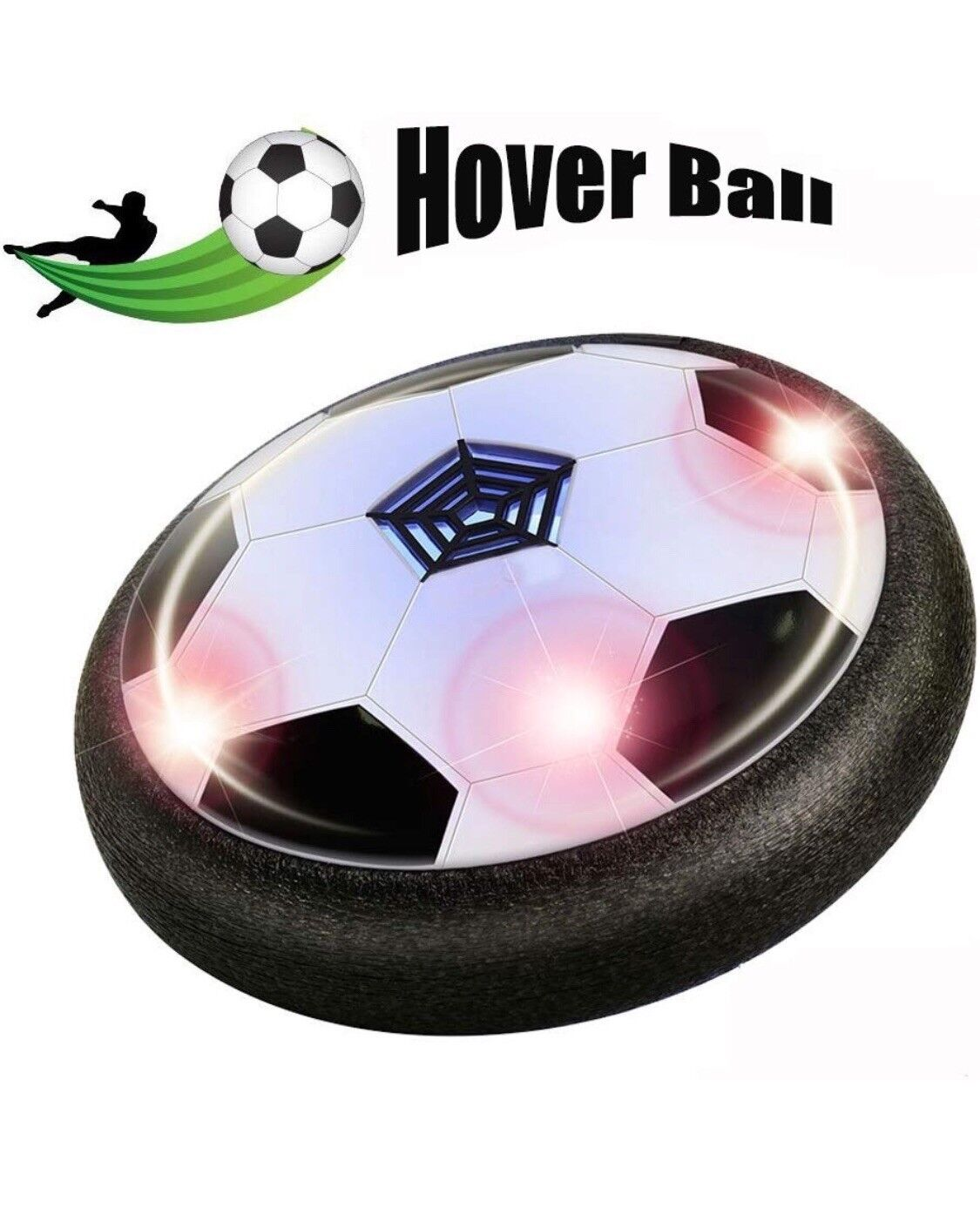 Air Power Soccer Light up LED Hover Ball for Indoor Football Gliding on Air New