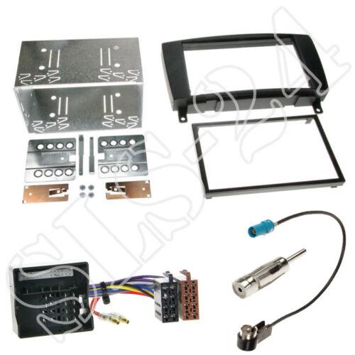 MERCEDES SLK R171 ab 2004 2-DIN Auto Radio Einbau Blende Rahmen+ISO KFZ Adapter