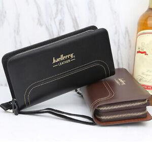 Men-039-s-Wallet-Business-Handbag-Double-Zipper-Bag-Fashion-One-Size-Coin-Purse-HOT