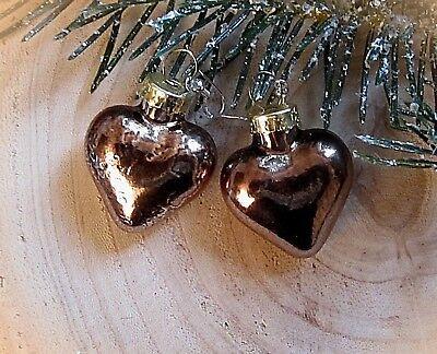 ★ Christbaum Kugel Weihnachts Ohrringe Herzen Schoko Silber 925 Haken 3 Cm