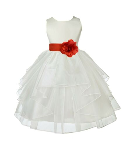 Flower Girl Dress Communion Pageant Wedding Easter Graduation Bridesmaid ORGANZA