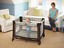 Lightweight Pack and Play Portable Crib For Infant Toddler Nap Travel Bag Wheels