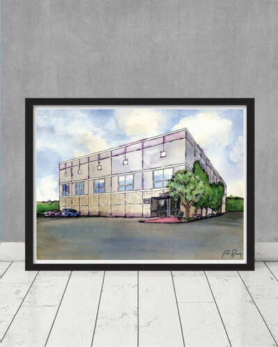 The Office Pam/'s Watercolor Painting Scranton Dwight Schrute Manager Farms Art