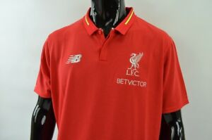 970835f14a0 The Reds New Balance Liverpool FC 2018-2019 Home POLO Shirt ...