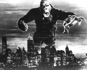 King Kong Classic Vintage  Poster EXTRA LARGE CANVAS PRINT A1