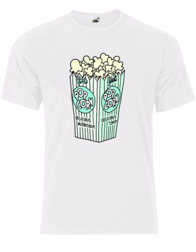 Popcorn Cinema Movies Delicious Food Nerd Geek Cool Mens Tshirt Tee Top AK89