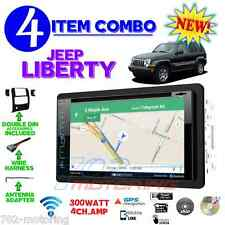 02-07 JEEP LIBERTY GPS NAVIGATION BLUETOOTH USB HDMI DOUBLE DIN CAR RADIO STEREO