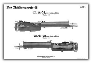WW1-German-MG08-Maxim-Training-Chart-Full-Side-View-Poster-Print