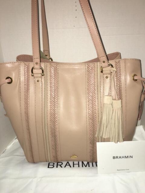 brahmin southcoast collection cheyenne khaki knoxville tote p44 rh ebay com