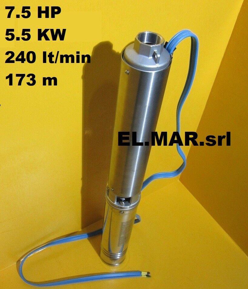 risparmia il 50% -75% di sconto Elettropompa Elettropompa Elettropompa Sommersa 7,5 HP 5,5 KW Pompa Trifase 4  Pozzo Acciaio SOMM10 28  tutti i prodotti ottengono fino al 34% di sconto