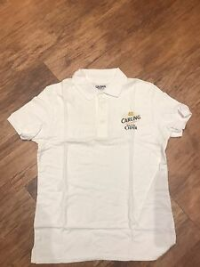 Carling Cider Polo Shirt Small Pub Shed Bar Man Cave Npyfioug-08002059-375948391