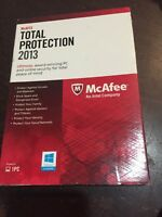 Mcafee Total Protection 1 Pc 2013 - Free Shipping