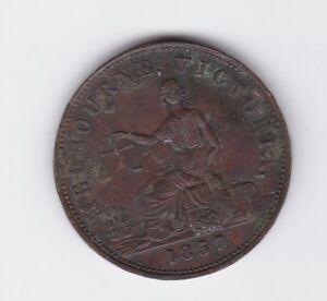 1857-Token-Half-Penny-Hide-amp-De-Carle-Grocers-Wine-Merchants-Melbourne-Victoria