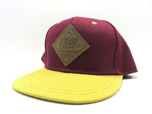 e2bf3478e9f11 New With Tags NEFF Maroon   Yellow Adjustable YOUTH Snapback Hat ...