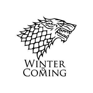 Image Is Loading Game Of Thrones Stark Wolf Winter Vinyl Die
