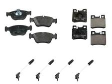 Mercedes R170 W202 W210 TEXTAR Front + Rear Brake Pad KIT + 4 Brake Pad Sensors