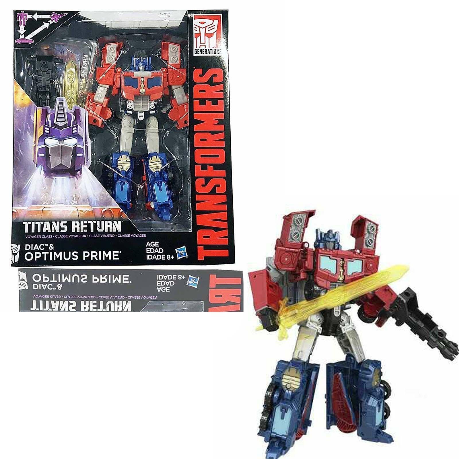 Transformers Generations Titans Return DIAC & OPTIMUS PRIME Voyager class Action