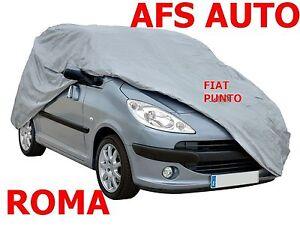 TELO COPRIAUTO TELATO FELPATO FIAT PUNTO SECONDA SERIE ANNO 2009 IMPER.ZIP GUIDA